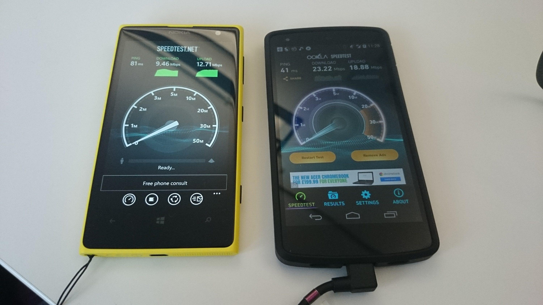 Left to right: O2 4G & Three 4G