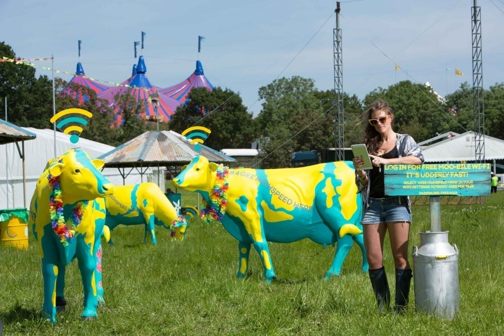 Free Wi-FI from EE at Glastonbury