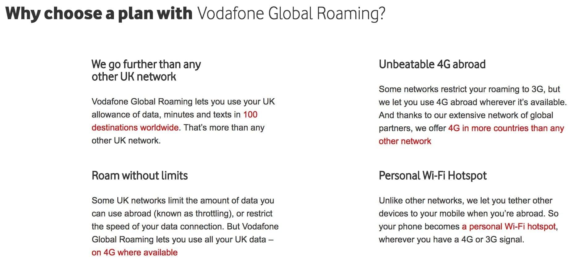 Vodafone explains its benefits