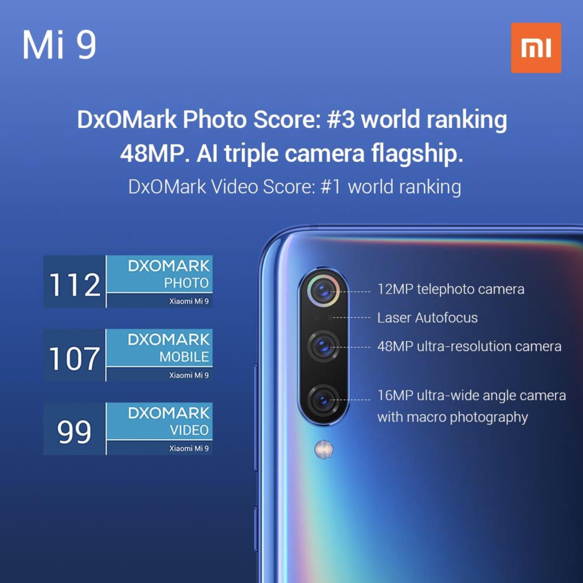 Mi 9 DxoMark score